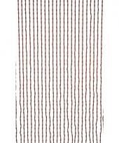 Vliegengordijn houten kralen bruin