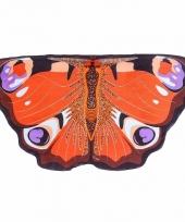 Vlinder verkleed vleugels voor kids dagpauwoog
