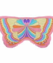 Vlinder verkleed vleugels voor kids regenboog 10089598
