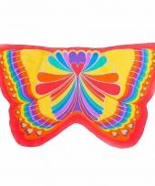 Vlinder verkleed vleugels voor kids regenboog 10089600