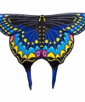 Vlinder verkleed vleugels voor kids zwarte zwaluwstaart