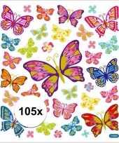 Vlinders knutsel stickers 10113438