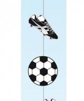Voetbal slingers zwart wit