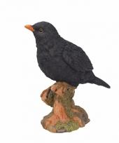 Vogel beeldje merel 20 cm