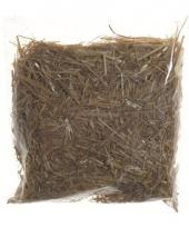 Vogelsnestje maken stro materiaal