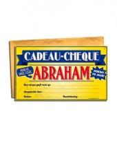 Voor de abraham cadeau cheque