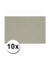 Voordeelpakket 10 grijze vellen a4
