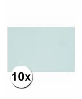 Voordeelpakket 10 lichtblauwe vellen a4
