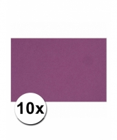 Voordeelpakket 10 paarse vellen a4