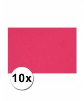 Voordeelpakket 10 roze vellen a4