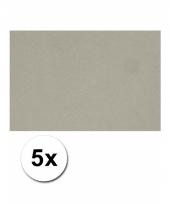 Voordeelpakket 5 grijze vellen a4