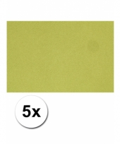 Voordeelpakket 5 groene vellen a4