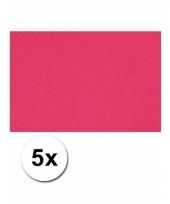 Voordeelpakket 5 roze vellen a4