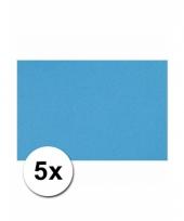 Voordeelpakket 5 turquoise blauw vellen a4