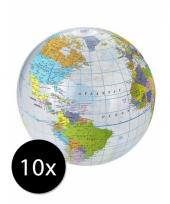 Voordeelset wereldbol strandballen
