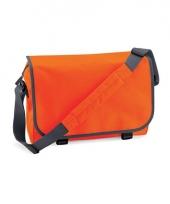 Voordelige aktetassen oranje 11 liter