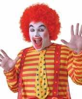 Voordelige rode clowns pruik voor volwassenen