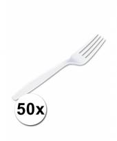 Voordelige vorken wit 50 stuks