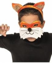 Vos masker en diadeem voor kids