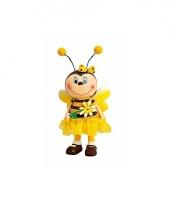 Vrolijk bijenbeeldje met bloemetje 6x13 cm