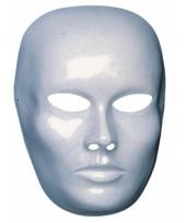 Vrouwen gezicht masker wit