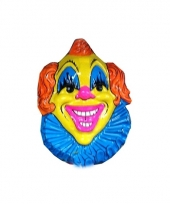 Wandversiering gele clown 60 cm 10078434