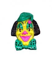 Wandversiering gele clown 60 cm