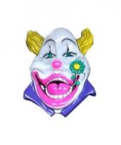 Wandversiering witte clown 60 cm