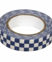 Washi tape blauwe blokjes