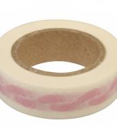 Washi tape met baby voetjes roze