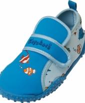 Waterschoenen blauw vissen voor kinderen