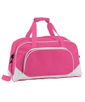 Weekend tas fuchsia roze