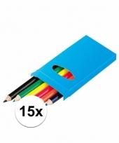 Weggevertjes kleurpotloden 15 stuks