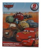 Weggevertjes puzzeltjes van cars 9x