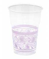 Weggooi bekertjes decoratie lila paars10 stuks