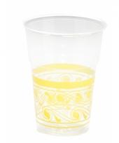 Weggooi bekertjes transparant geel