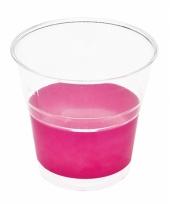 Weggooi borrel bekertjes fuchsia roze 10 stuks