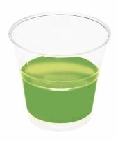 Weggooi borrel bekertjes groen 10 stuks