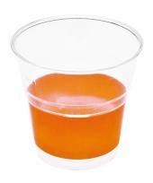 Weggooi borrel bekertjes oranje10 stuks