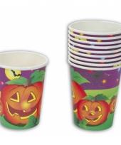 Wegwerp bekers voor halloween 10 stuks
