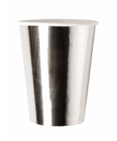 Wegwerp bekertjes metallic zilver