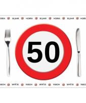 Wegwerp placemats 50 jaar 10 stuks