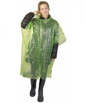 Wegwerp regen poncho lime