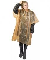 Wegwerp regen poncho oranje 10087946