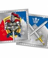 Wegwerp servetjes ridder