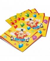 Wegwerp servetten clown 20 stuks