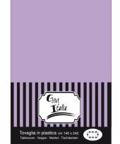 Wegwerp tafelkleed lila paars140 x 240 cm