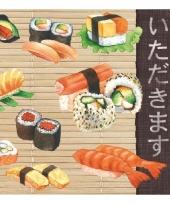 Wegwerpservetten sushi print 3 laags 20 stuks