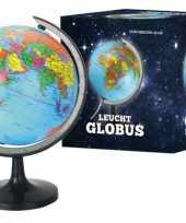 Wereldbol met lampje 20 cm