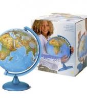 Wereldbollen 25 cm met licht
